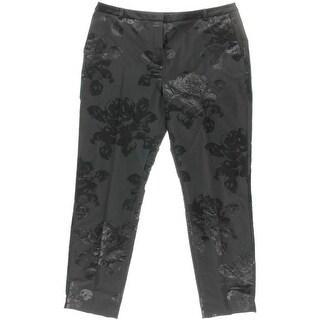 LK Bennett Womens Metallic Floral Print Dress Pants - 12