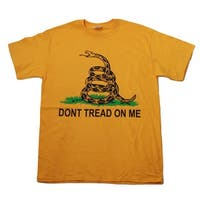 Don't Tread On Me - Snake Graphic T-Shirt - Yellow