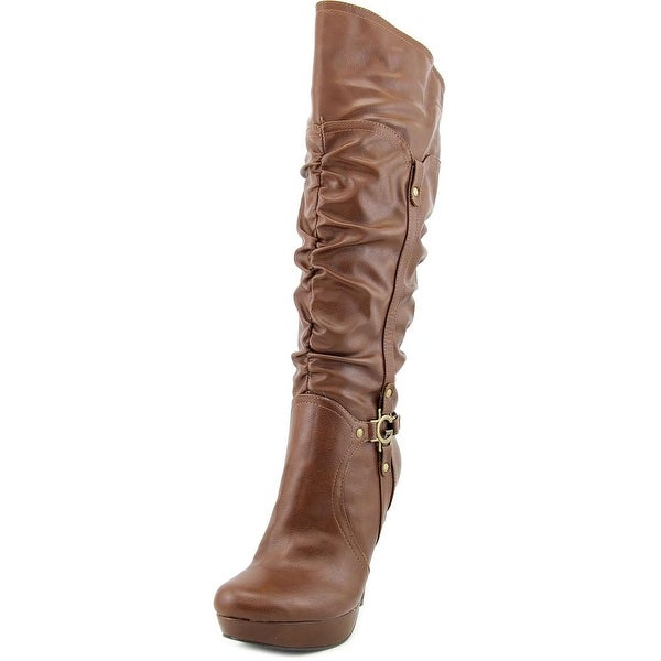 G By Guess Darrlin Women Round Toe Synthetic Brown Knee High Boot