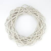 """15""""  Beige Pealed Weeping Willow Branches Artificial Spring Wreath"""