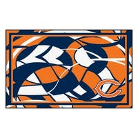 NFL Chicago Bears 4 x 6 Foot Plush Non-Skid Area Rug