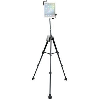 CTA Digital Rolling Portable Tripod Stand for 7-13 in. Tablets