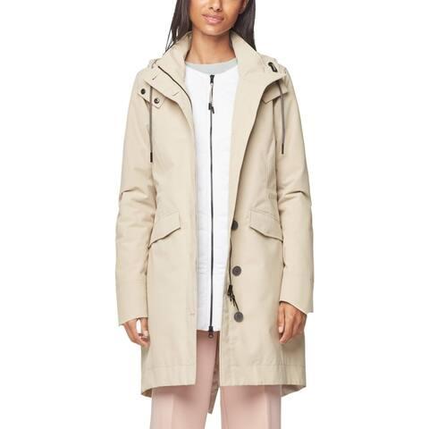 Cole Haan Womens Zerogrand Parka Coat Winter Waterproof - Silver