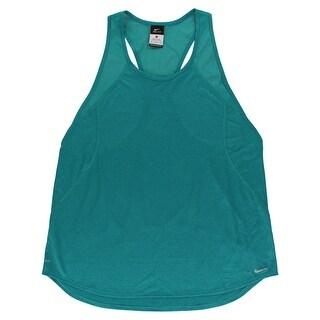 Nike Womens Crew Running Tank Top Teal - XL