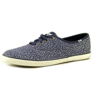Keds Champion Seltzer Women Round Toe Canvas Blue Sneakers