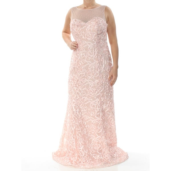 7c6ae513dc SLNY Womens Pink Gown Illusion Neckline Full-Length Mermaid Formal Dress  Size: 6