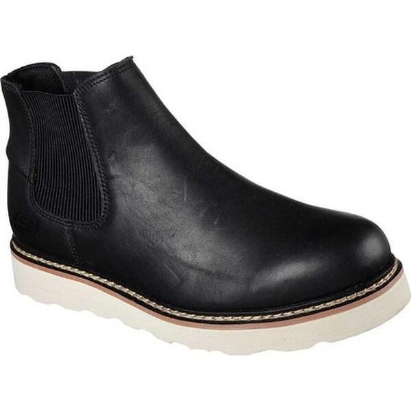 bb3ddef2e175 Shop Skechers Men s Work Pettus Kirkaldy Chelsea Boot Black - Free ...
