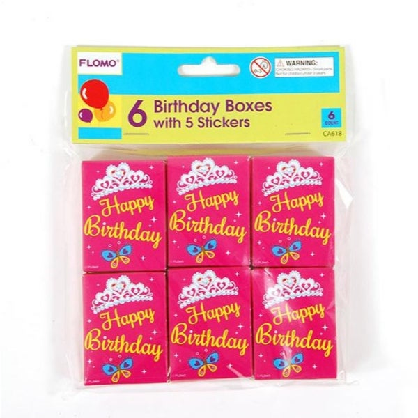 Birthday Girl Box Of Stickers 6 Pack 36 Units