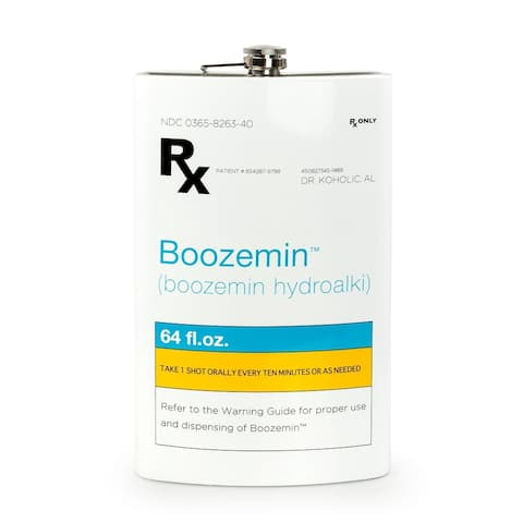 RX Boozemin 64 Ounce Oversized Stainless Steel Flask - Multi