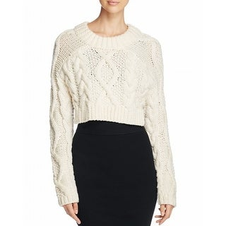 DKNY NEW White Ivory Womens Size Large L Wool Cropped Backless Sweater