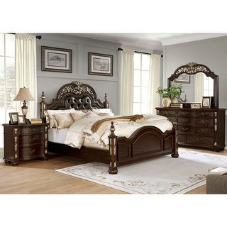 Link to Furniture of America Urex Traditional Cherry 4-piece Bedroom Set Similar Items in Bedroom Furniture
