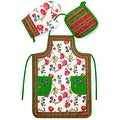 Chef's 3 Piece Kitchen Set - Apron, Oven Mit and Potholder - Thumbnail 5