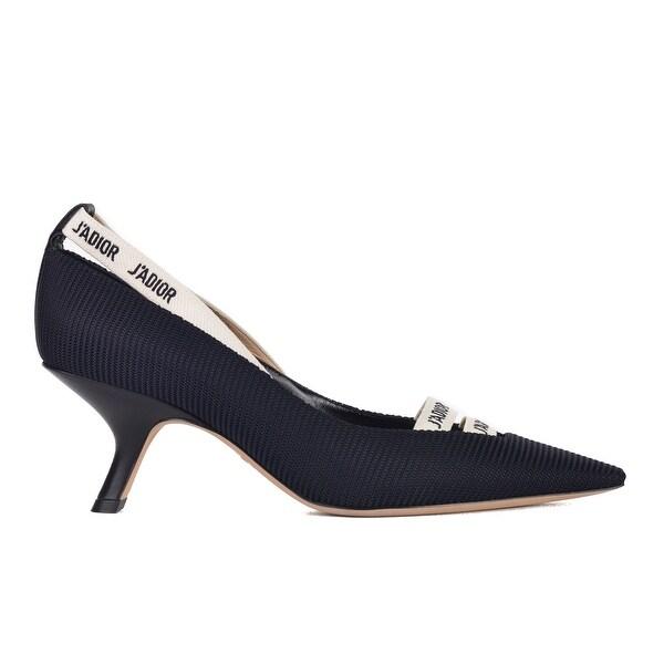 08ff2441729 Shop Dior Womens Black Ridged J'Adior Ribbon Kitten Heel - Free ...