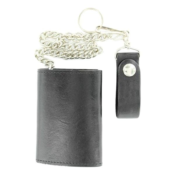 M&F Western Wallet Mens Leather Trucker Key Chain Black 0 - One size
