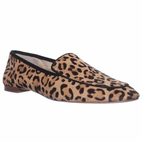 Vince Camuto Eliss Slip-On Loafer Flats, Tan/black