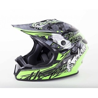 Cyclone ATV MX Motocross Dirt Bike Quad Off-road Helmet Green