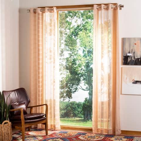 "SAFAVIEH Dafni Beige 84 Inch Single Curtain Panel - 52"" W x 84"" L"