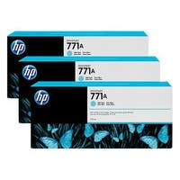 HP 771A 3-pack 775-ml Light Cyan DesignJet Ink Cartridges (B6Y44A) (Single Pack)