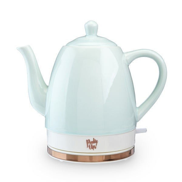 """Noelle Ceramic Electric Tea Kettle by Pinky Up - 9"""" x 6"""". Opens flyout."""