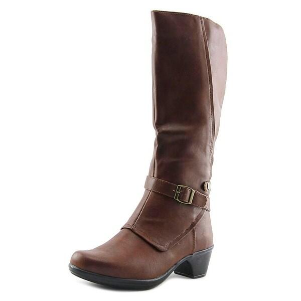 Easy Street Jan Women W Round Toe Synthetic Tan Knee High Boot