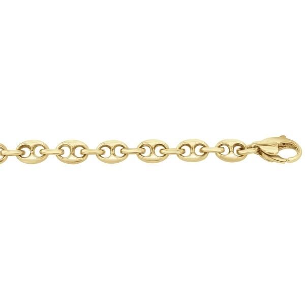 Men's 14K Gold 8.5 inch Fancy Link Chain Bracelet