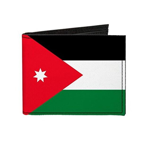 Buckle-Down Canvas Bi-fold Wallet - Jordan Flag Accessory