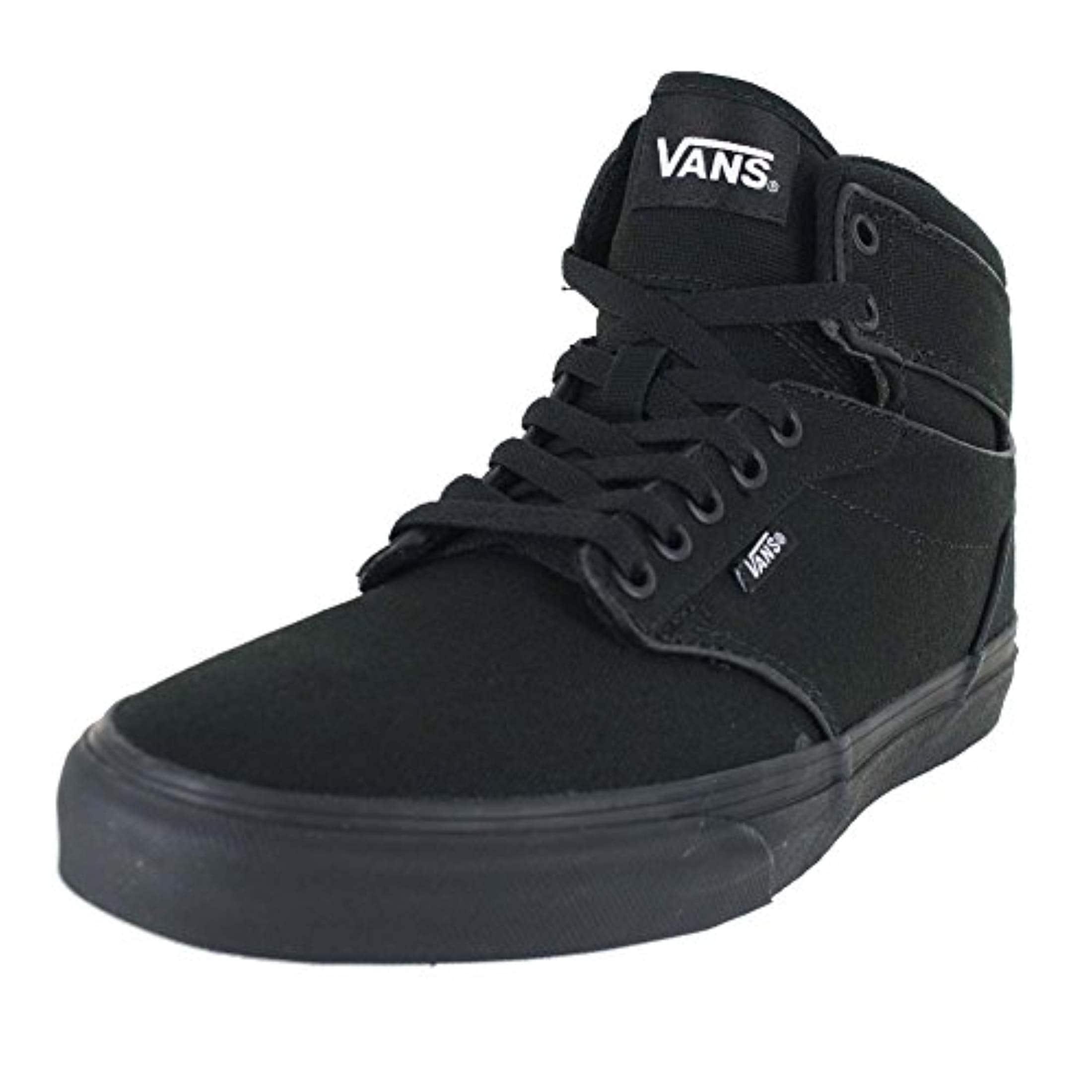 Vans Mens Atwood Hi Shoes Canvas Black Black Size 11.5
