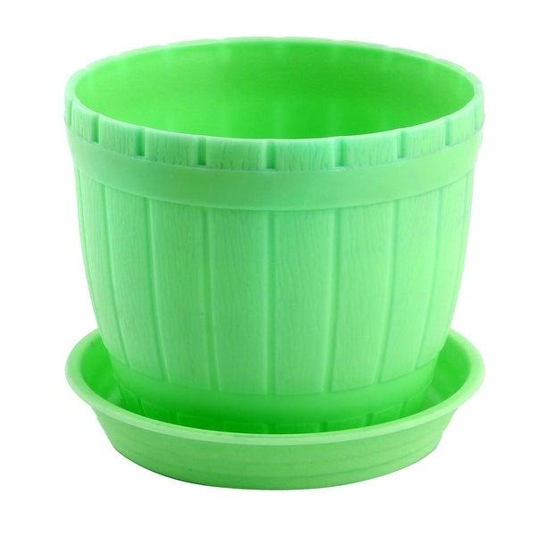Office Plastic Desktop Adornment Plants Cactus Planting Pot Flowerpot Green