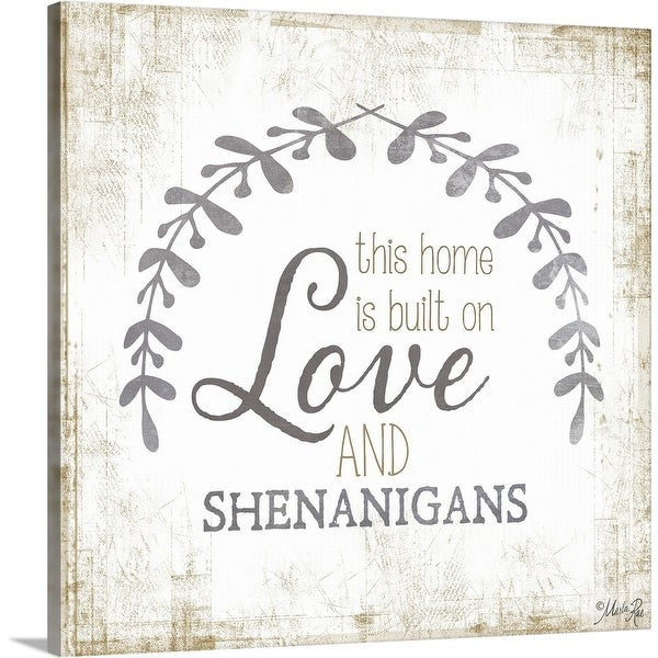 """Love and Shenanigans"" Canvas Wall Art"