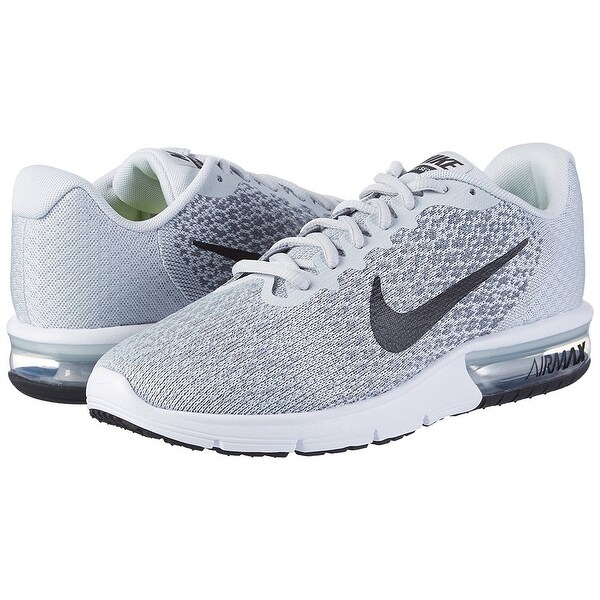 Shop Nike Men's Air Max Sequent 2 Pure PlatinumBlackCool