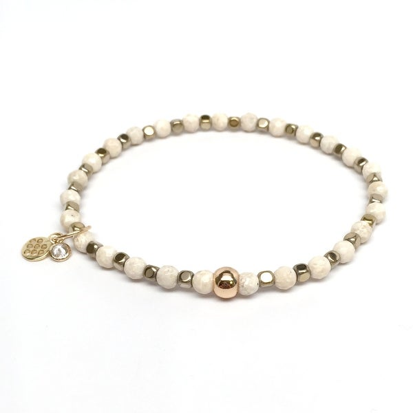 "Ivory Jade Friendship 7"" Bracelet"