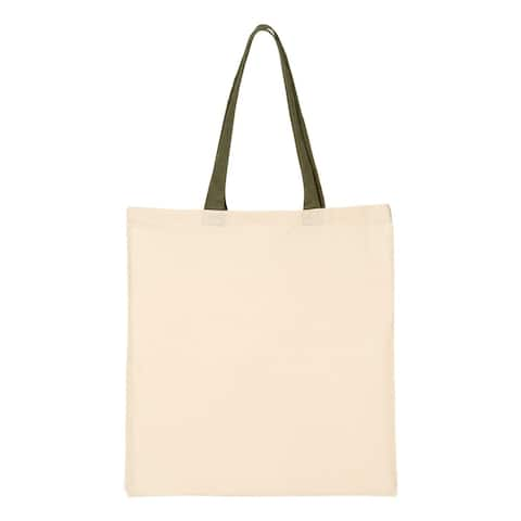 Q-Tees - Economical Tote with Contrast-Color Handles