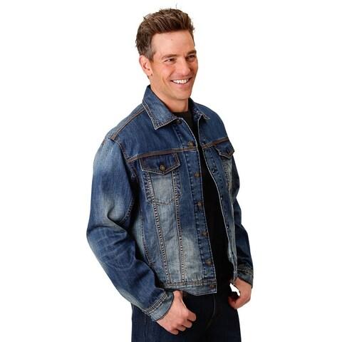 Stetson Western Jacket Mens Denim Vintage Blue