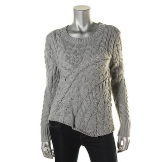 Kiind Of Womens Cable Knit Long Sleeves Pullover Sweater