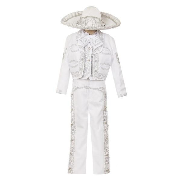 Rain Kids Boys White Horse Embroidery Elegant 6 Pc Charro Suit. Opens flyout.