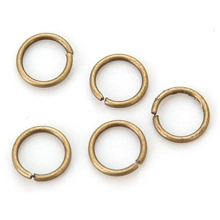 Sweet Beads Fund Find JRing Rnd 8mm 118pc Ant Gold