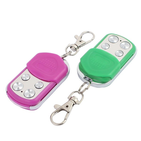 2pcs 100 Meters 4 Keys Waterproof Car Anti-theft Alarm Digital Remote Controller