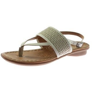Naturalizer Womens Winger Slingback Sandals Faux Leather Metallic - 7 narrow (aa,n)