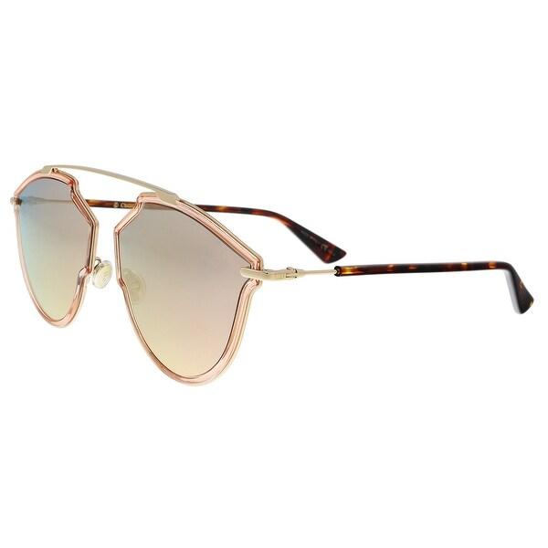 594f6bb4e16f Christian Dior DIORSOREALRISE 0S45 Pink Gold Irregular Sunglasses -  58-17-145