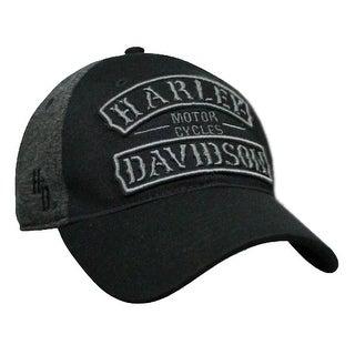 Harley-Davidson Men's Embroidered Vintage Rockers Baseball Cap, Black BCC25175