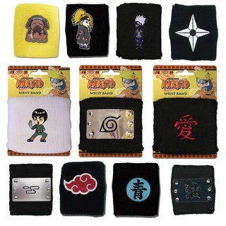 NARUTO NINJA OFFICIALLY LICENSED VILLAGES & CHARACTERS WRISTBANDS - 1 pair