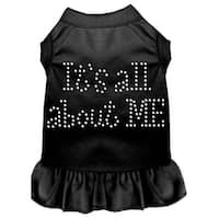 Rhinestone All About me Dress Black Sm (10)