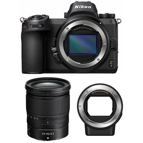 Nikon Z7 Mirrorless Camera with 24-70mm Lens & Nikon FTZ Mount Adapter