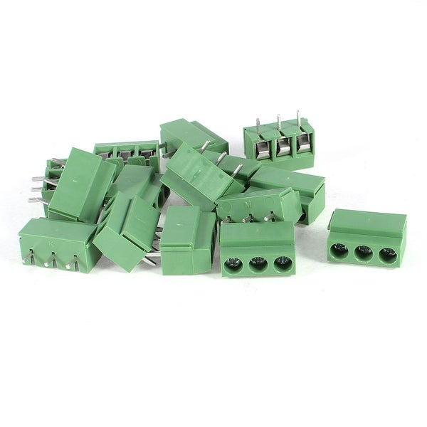 Unique Bargains 15 Pcs 3 Pole 4.5mm Pitch PCB Mount Screw Terminal Block 8A 250V