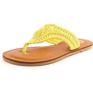 Yellow Box Abigail Women Open Toe Canvas Yellow Thong Sandal