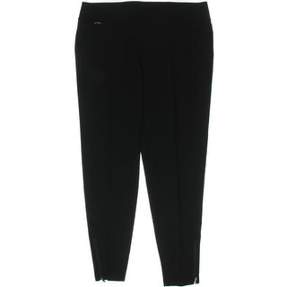 Ralph Lauren Womens Skinny Pants Zipper Cuffs Seamed