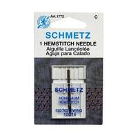 Schmetz 1772 Hemstitch Wing Sewing Machine Needle Size 100/16