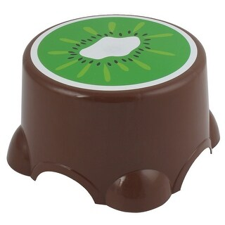 Home Dining Room Plastic Round Portable Mini Step Stool Chair Seat Brown