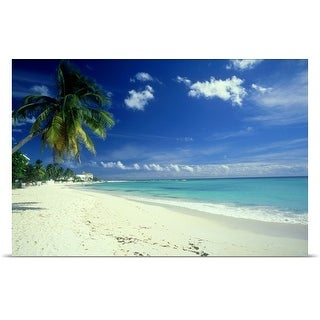 Poster Print entitled Beach scene, Barbados (5 options available)