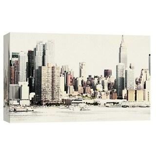 "PTM Images 9-101895  PTM Canvas Collection 8"" x 10"" - ""New York Waterfront A"" Giclee New York Art Print on Canvas"